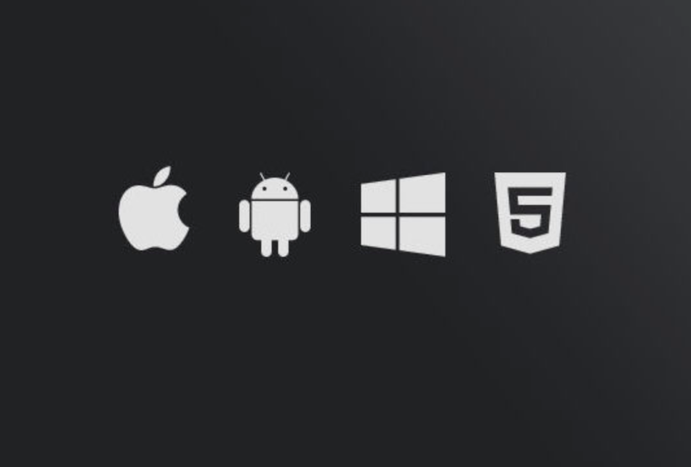 apple, android, windows, html5